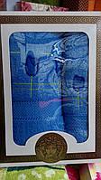 Подарочный набор махровых полотенец  синий