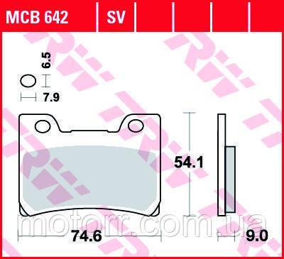 Тормозные колодки TRW / LUCAS MCB642SV