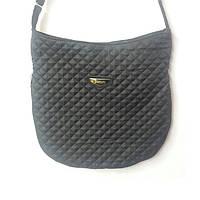 Стеганая сумка через плечо средняя черная
