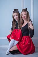 Family Look парные платья Белоснежка для мамы и дочки