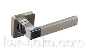 Ручки дверные на розетке Gavroche STANNUM SN/CP