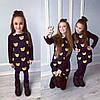 Family Look Парные утепленные платья Мишки teddy мама+дочка , фото 5