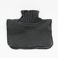 Манишка вязаная для мальчика, флисовая подкладка