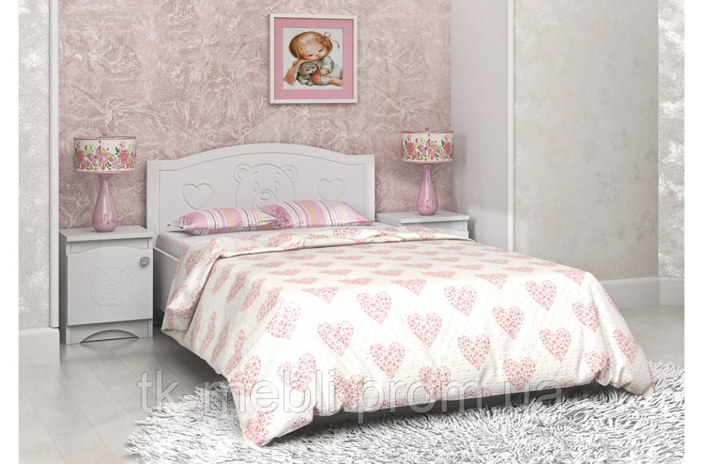"""Кровать детская/подростковая  """"Мишка"""" цвет белый  (2 размера) - Интернет-магазин """"Теорема комфорта"""" в Черкассах"""