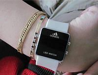 Ультра модные спортивные унисекс часы белые , фото 1