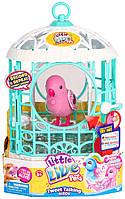 Говорящий попугайчик в клетке  Little Live Pets Ruby Bell Рубиновая Бель