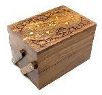 Шкатулка деревянная для украшений, фото 2