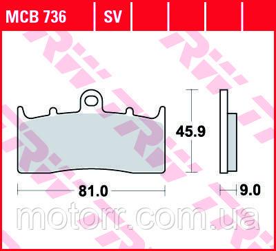 Тормозные колодки TRW / LUCAS MCB736SV