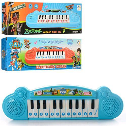 АКЦИЯ!!! Пианино 6889-140-1-3 32см, (муз,ноты),3вида(RP,ЩП,ZOO),на бат-ке,в кор-ке,32-9,5-3 61329 Ч