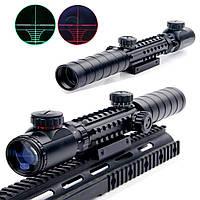 Оптический прицел Bushnell 3-9x32EG подсветка шкал, крепление Вивера/ласточкин хвост, прицелы,оптика