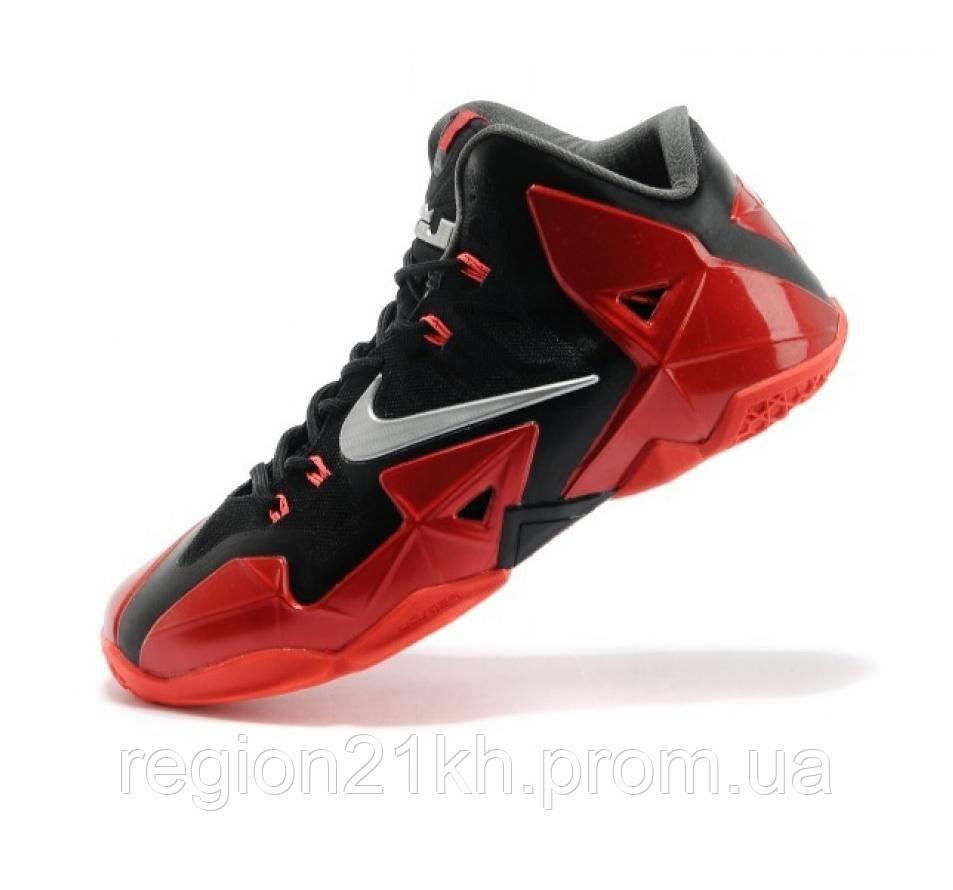 Баскетбольные кроссовки Nike LeBron XI 11 Miami Heat красные купить ... d498989c667