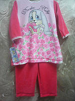 Детский костюм велюровый  6, 9 мес  Зайка