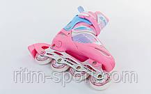 Роликовые коньки раздвижные детские KEPAI F1-K08 (размер: 38 - 41), фото 3