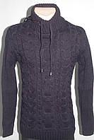 Теплый мужской свитер под горло