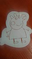 Трафарет Свинка Пеппа для украшения кексов и пряников