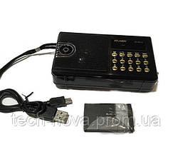 Радиоприемник колонка ATLANFA AT-R21U (радио, USB, фонарик)