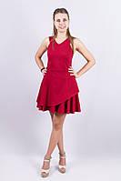 Платье женское Victoria Beckham двойной волан, бретельки накрест