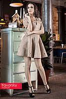 Праздничное короткое расклешонное платье