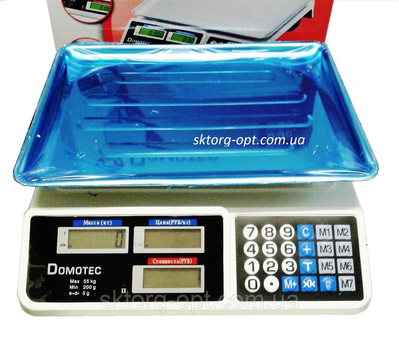 Торговые весы Domotec DT 809 до 55 кг