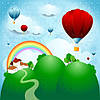 """Детские Фотообои """"Воздушные шары  и радуга"""""""
