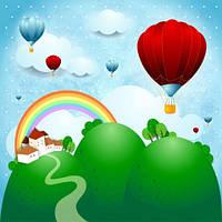 """Детские Фотообои """"Воздушные шары  и радуга"""" , фото 1"""