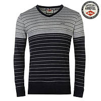 Свитер Lee Cooper Stripe V Knit Jumper Mens