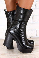 Ботинки женские на толстом устойчивом каблуке