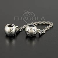 """Цепочка PANDORA (ПАНДОРА) """"Цепочка с надписью PANDORA"""" из серебра для браслета"""