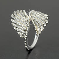 """Кольцо PANDORA (ПАНДОРА) """"Кольцо волшебные перья"""" из серебра для браслета"""