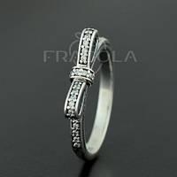 """Кольцо PANDORA (ПАНДОРА) """"Кольцо из серебра с цирконием, Бантик"""" из серебра для браслета"""
