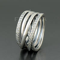 """Кольцо PANDORA (ПАНДОРА) """"Кольцо из серебра с кубическим цирконием"""" из серебра для браслета"""