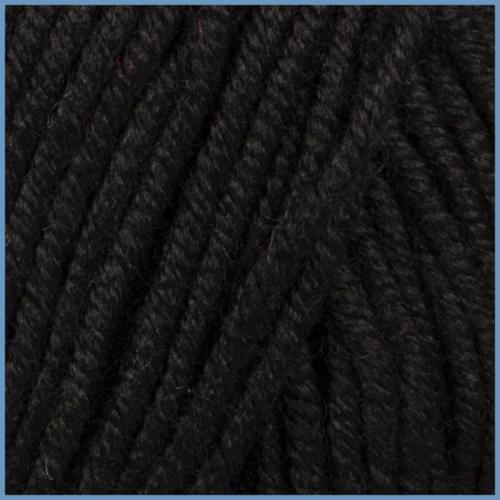 Пряжа для вязания Valencia Delmara, 620 (Black) цвет
