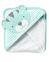 """Махровое полотенце с капюшоном """"Тигренок"""". 75 х75 см"""