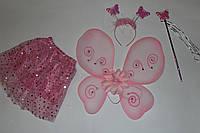 Крылья с юбочкой розовые Цветок