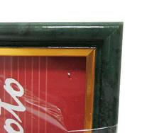 "Фоторамка настенная пластиковая, багет ""Мрамор темно-зеленый"" 21*30 см."