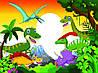 """Детские Фотообои """"Динозавры в зарослях"""""""