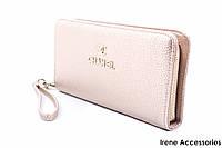 Элегантный женский кошелек Chanel из эко-кожи, цвет золото на молнии