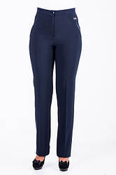 Качественные женские брюки синего цвета