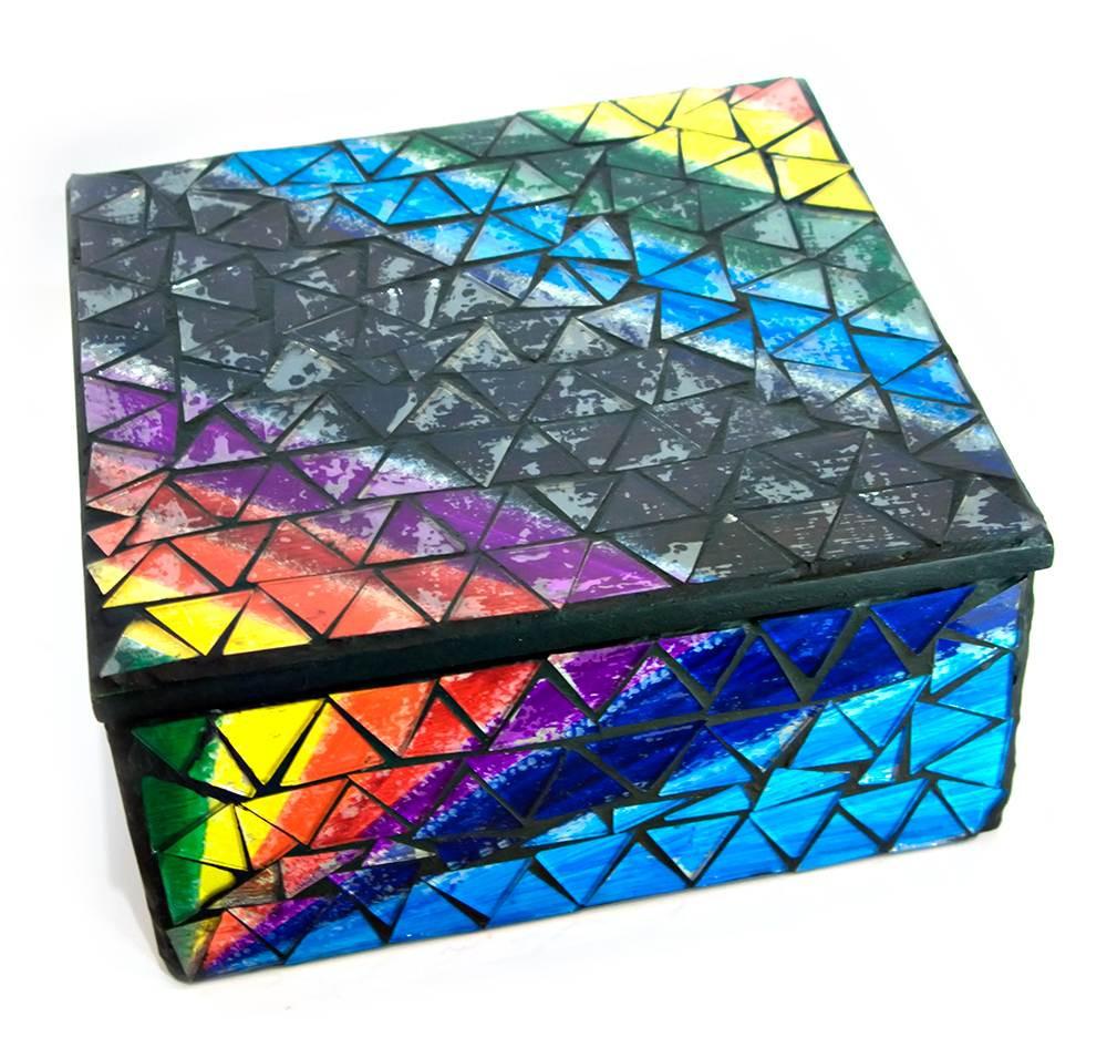 Шкатулка мозаичная для украшений