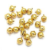 Бубенчики 10 мм, золото, 1 шт