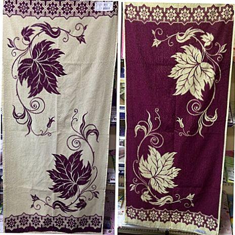 Махровое полотенце жаккардовое банное 67*150  (Беларусь)