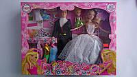 """Кукла типа Барби """"Семья"""" с Кеном,куколкой,набором одежды,аксесуар. в коробке 420*320*65 мм.Игровая кукла типа"""