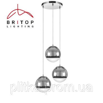 Светильник Gino zwis 3XE27 60W chrom Britop Lighting, фото 2