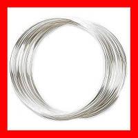 Проволока с эффектом памяти для рукоделия, цвет серебряный, 0,6 мм, диаметр 36 мм
