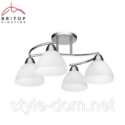 Светильник Kina zyrandol 4X40W E27 chrom/bialy Britop Lighting, фото 2