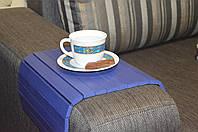 Деревянная накладка-столик на подлокотник дивана(синий) #2i2ua