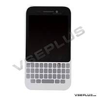 Дисплей (экран) Blackberry Q5, белый, с сенсорным стеклом