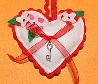 Подарок из фетра Сердечко Весеннее Настроение 1111, фото 1