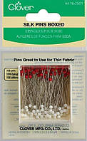Булавки для тонких тканей Clover Silk Pins Boxed 2501