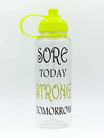 Бутылка для воды спортивная MOTIVATION CS 700мл желтый
